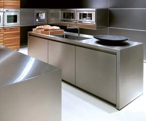 Кухонная мебель из нержавеющей стали