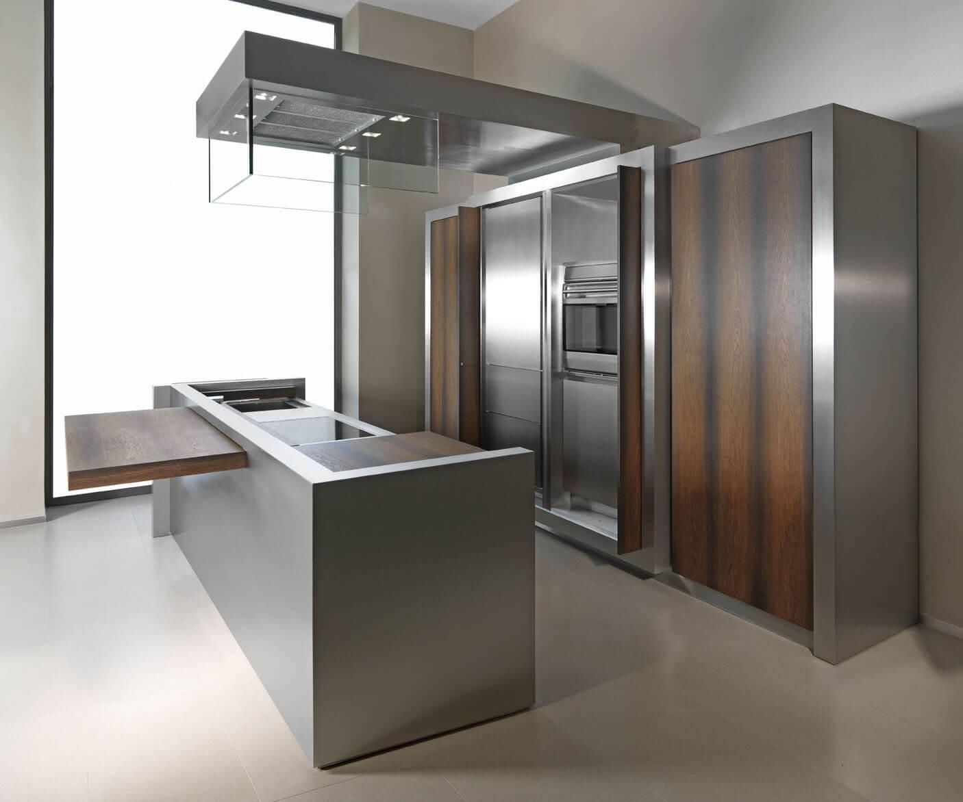 Шкафы на кухню из металла